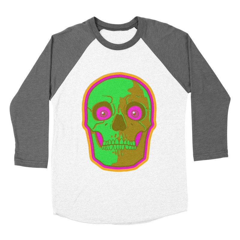 crazyskull No.2 Men's Baseball Triblend T-Shirt by crazy3dman's Artist Shop