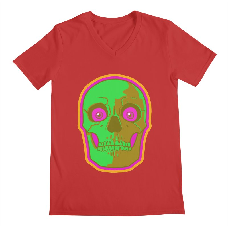 crazyskull No.2 Men's V-Neck by crazy3dman's Artist Shop
