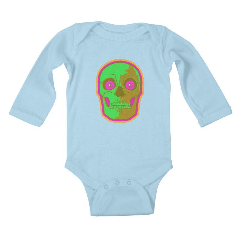 crazyskull No.2 Kids Baby Longsleeve Bodysuit by crazy3dman's Artist Shop