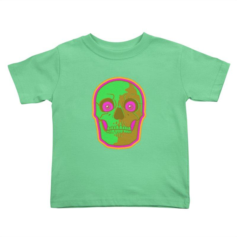 crazyskull No.2 Kids Toddler T-Shirt by crazy3dman's Artist Shop