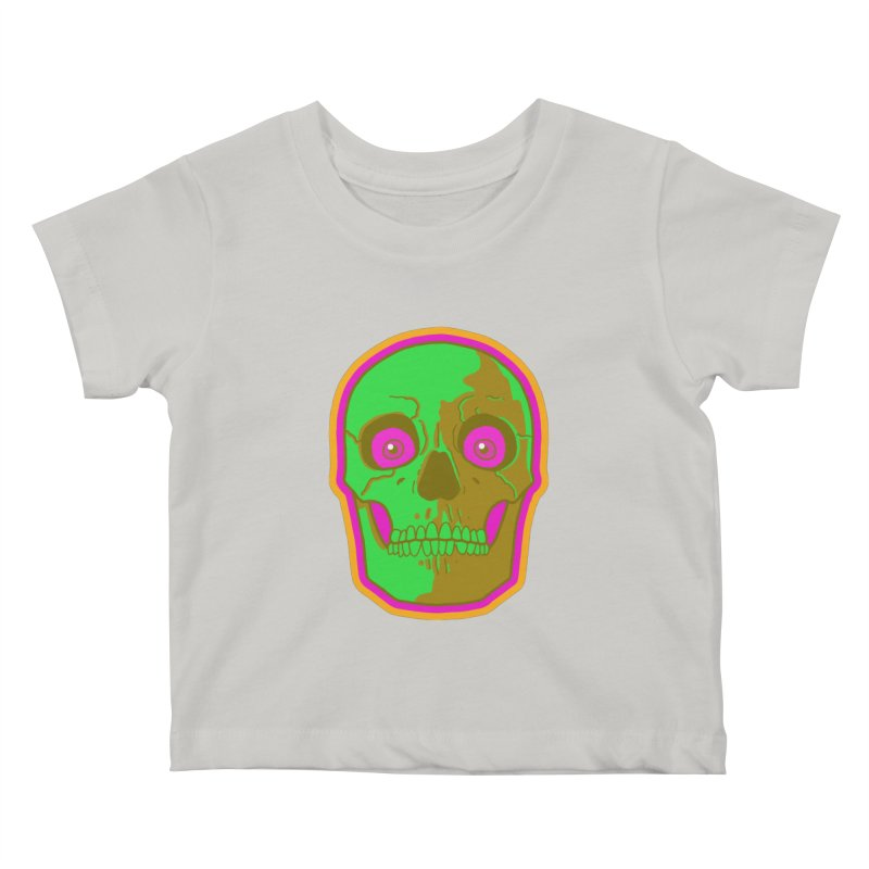 crazyskull No.2 Kids Baby T-Shirt by crazy3dman's Artist Shop