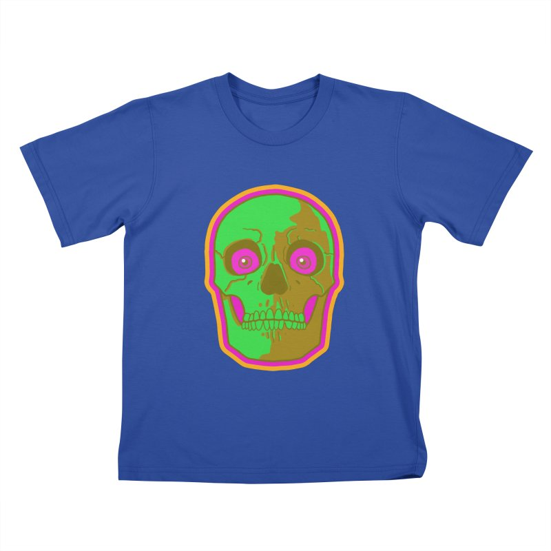crazyskull No.2 Kids T-Shirt by crazy3dman's Artist Shop