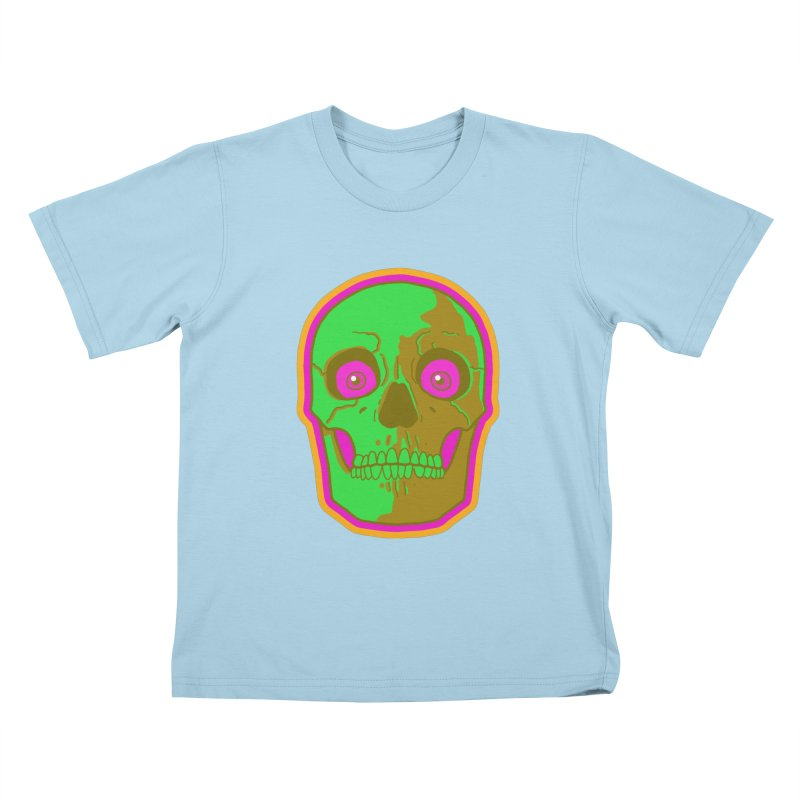 crazyskull No.2 Kids T-Shirt by crazy3dman's Artist Shop