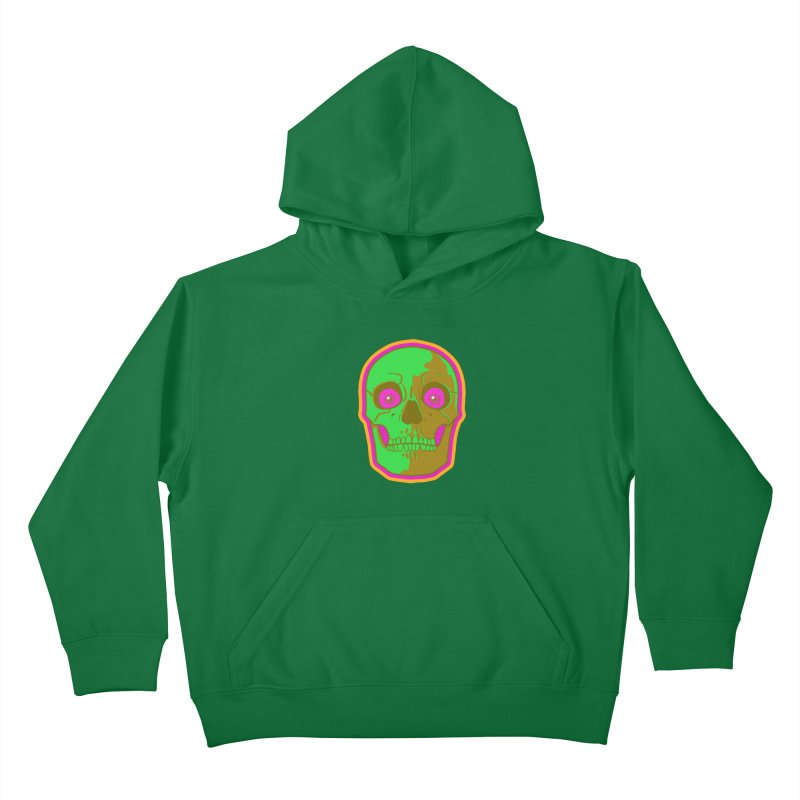 crazyskull No.2 Kids Pullover Hoody by crazy3dman's Artist Shop