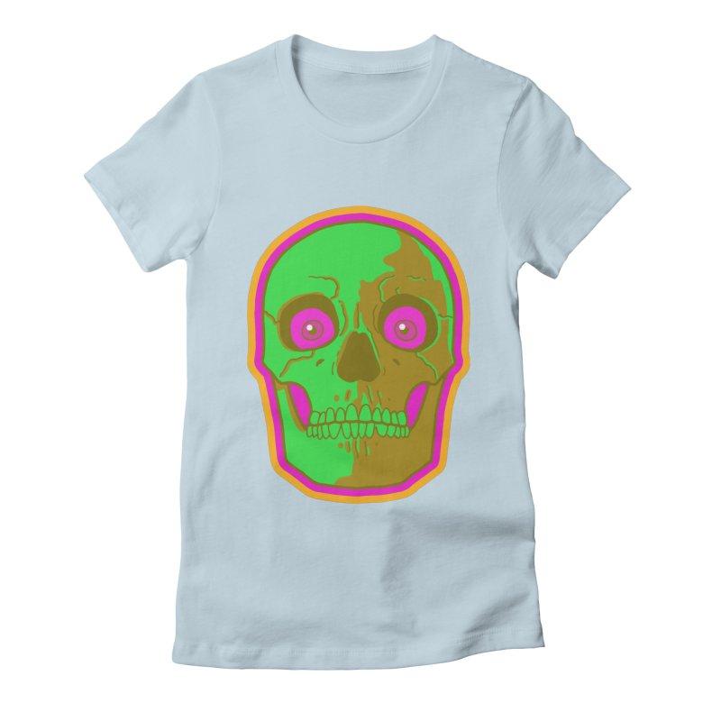 crazyskull No.2 Women's Fitted T-Shirt by crazy3dman's Artist Shop