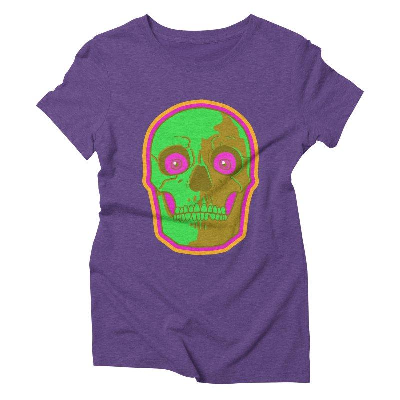 crazyskull No.2 Women's Triblend T-Shirt by crazy3dman's Artist Shop