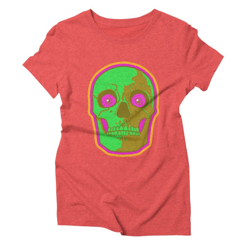 crazyskull No.2 Women's Triblend T-shirt by crazy3dman's Artist Shop