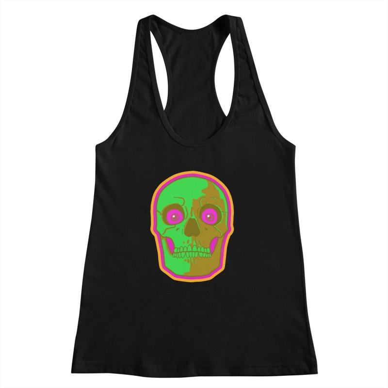 crazyskull No.2 Women's Racerback Tank by crazy3dman's Artist Shop