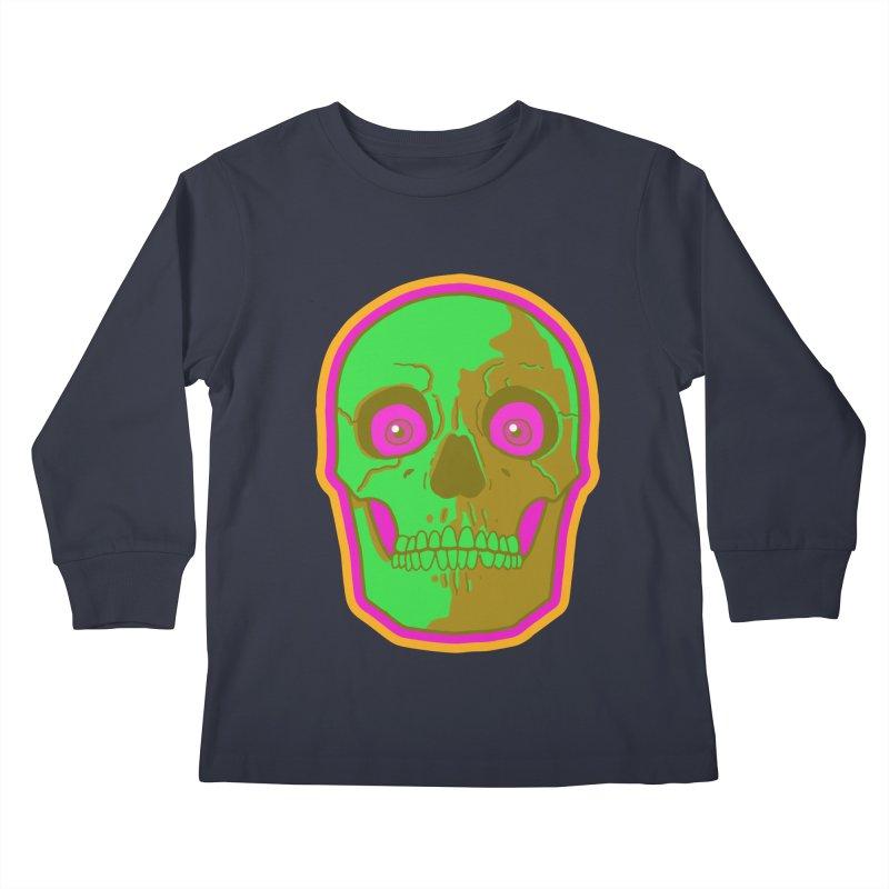 crazyskull No.2 Kids Longsleeve T-Shirt by crazy3dman's Artist Shop