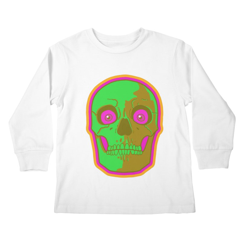 crazyskull No.2 Kids Longsleeve T-Shirt by crazy3dman's Artist Shop