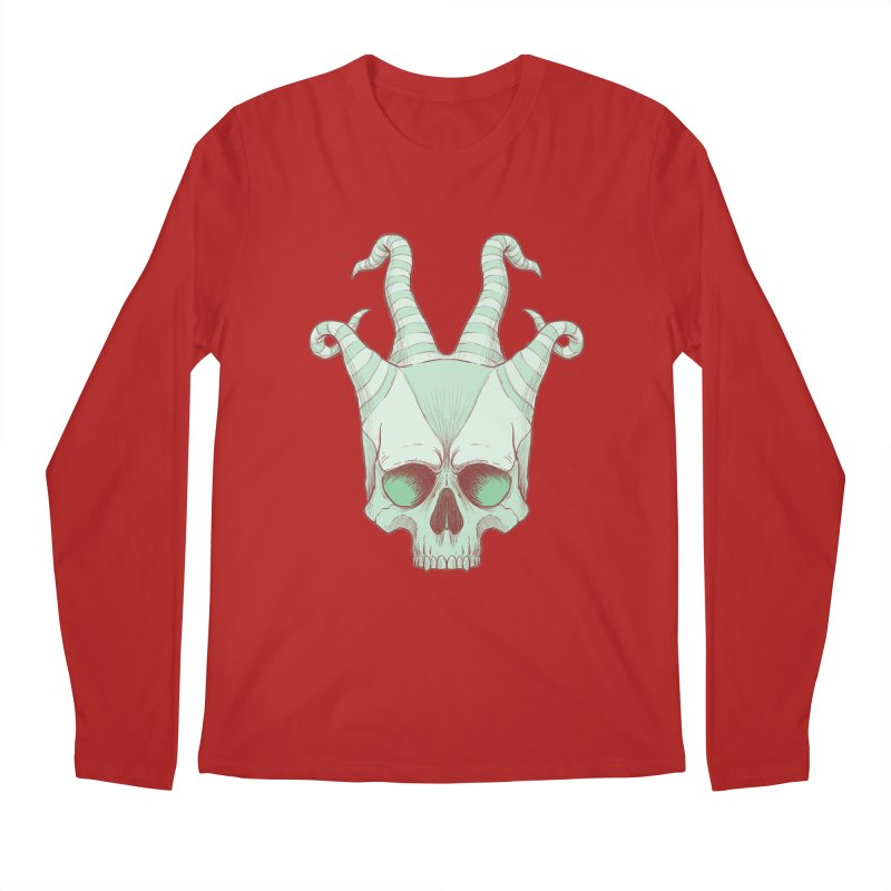 crazyskull No.3 Men's Longsleeve T-Shirt by crazy3dman's Artist Shop