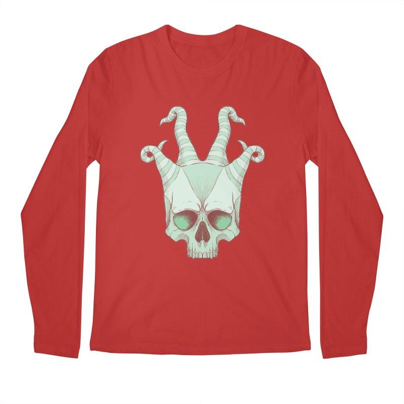 crazyskull No.3 Men's Longsleeve T-Shirt by crazy3dman's Artist Shop
