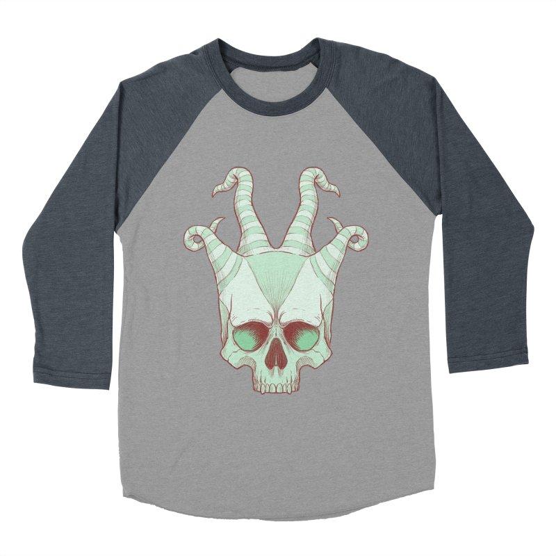 crazyskull No.3 Men's Baseball Triblend T-Shirt by crazy3dman's Artist Shop