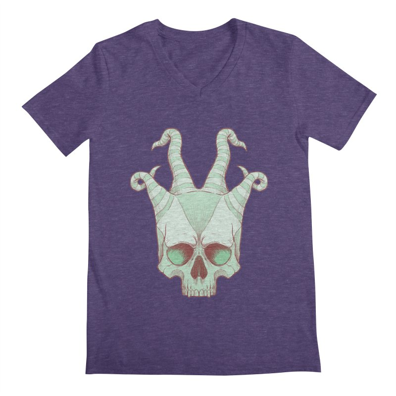 crazyskull No.3 Men's V-Neck by crazy3dman's Artist Shop