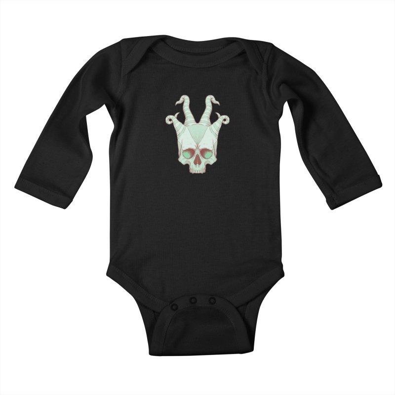 crazyskull No.3 Kids Baby Longsleeve Bodysuit by crazy3dman's Artist Shop