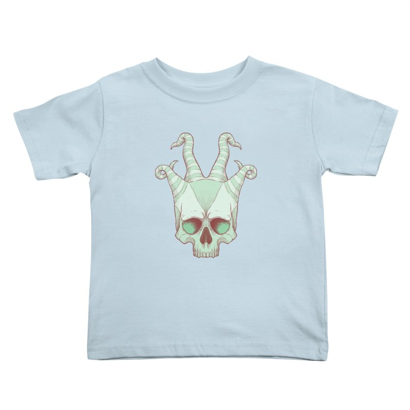 crazyskull No.3 Kids Toddler T-Shirt by crazy3dman's Artist Shop