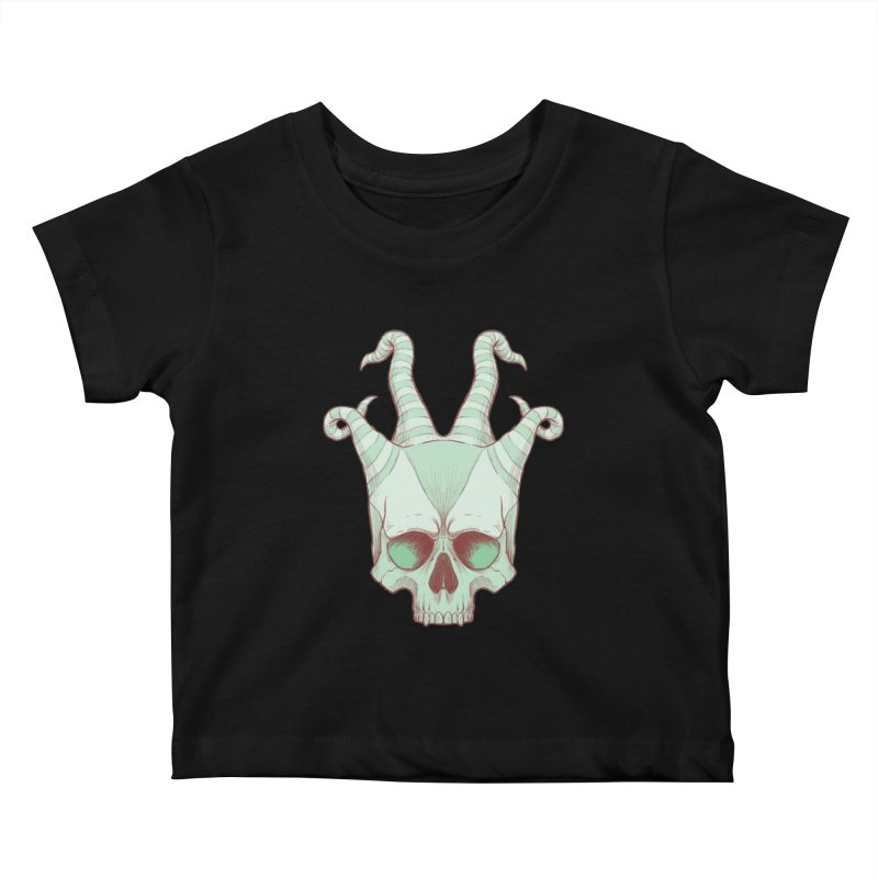 crazyskull No.3 Kids Baby T-Shirt by crazy3dman's Artist Shop