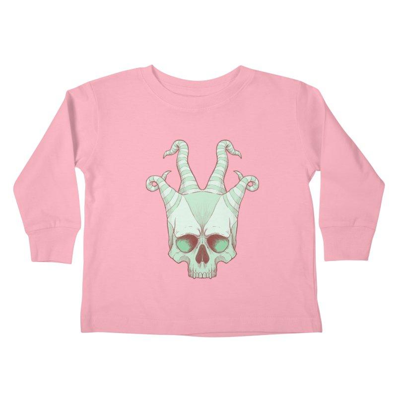 crazyskull No.3 Kids Toddler Longsleeve T-Shirt by crazy3dman's Artist Shop