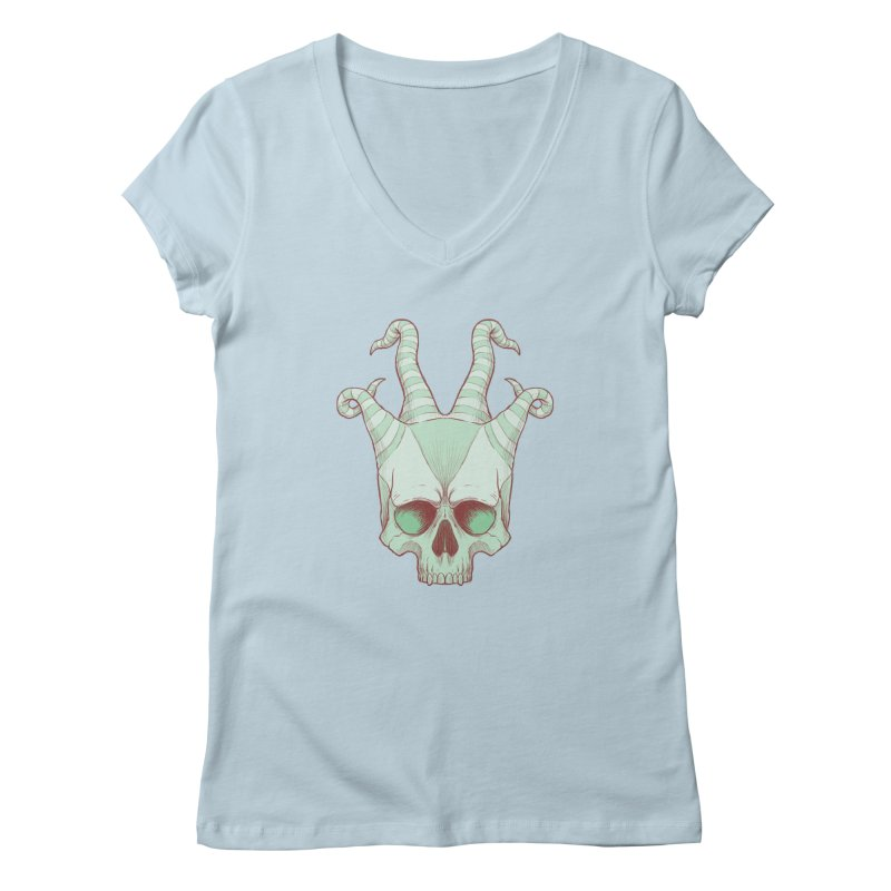 crazyskull No.3 Women's V-Neck by crazy3dman's Artist Shop