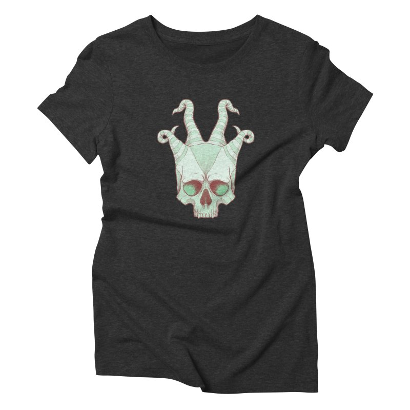 crazyskull No.3 Women's Triblend T-shirt by crazy3dman's Artist Shop