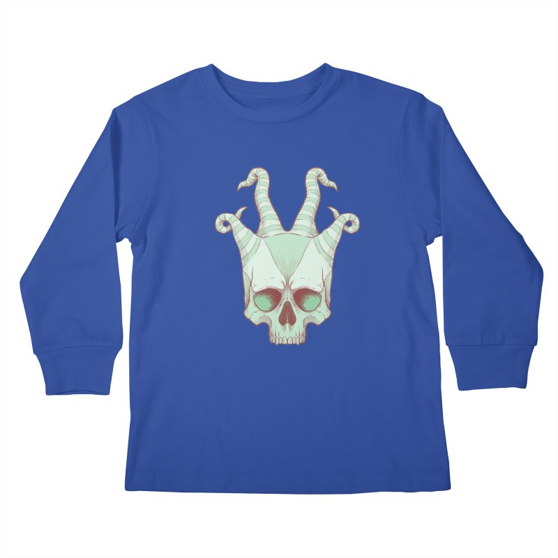crazyskull No.3 Kids Longsleeve T-Shirt by crazy3dman's Artist Shop