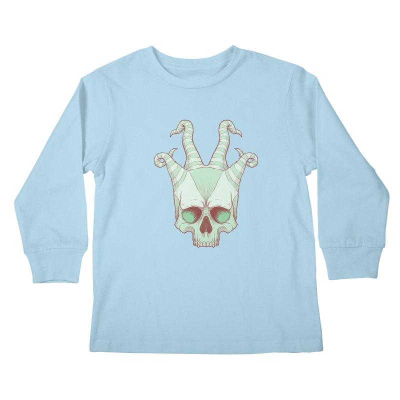 crazyskull No.3 Kids Longsleeve T-Shirt by crazy3dman's Artist Shop