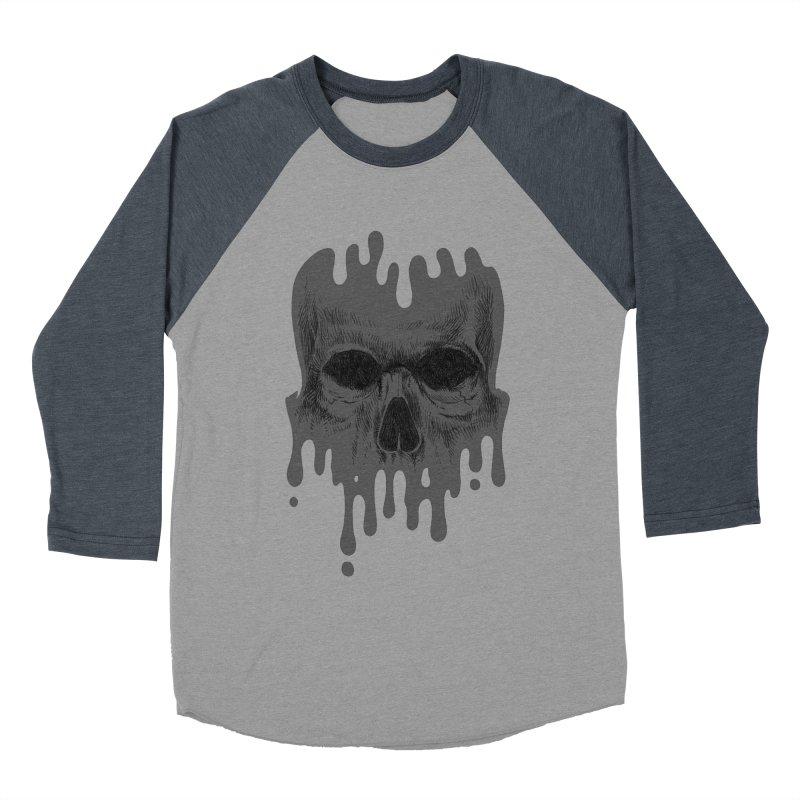 crazyskull No.4 Men's Baseball Triblend T-Shirt by crazy3dman's Artist Shop