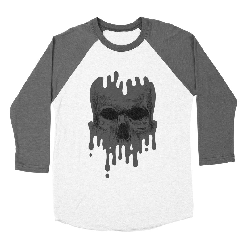 crazyskull No.4 Men's Baseball Triblend T-Shirt by crazy3dman's Artist Shop