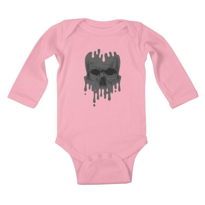 crazyskull No.4 Kids Baby Longsleeve Bodysuit by crazy3dman's Artist Shop
