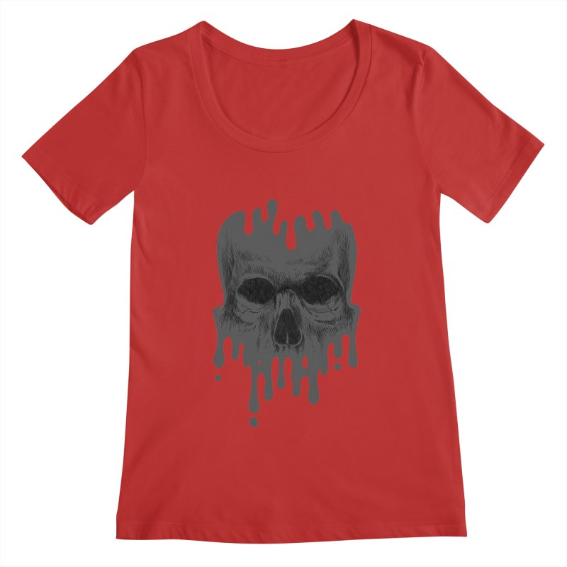 crazyskull No.4 Women's Scoopneck by crazy3dman's Artist Shop