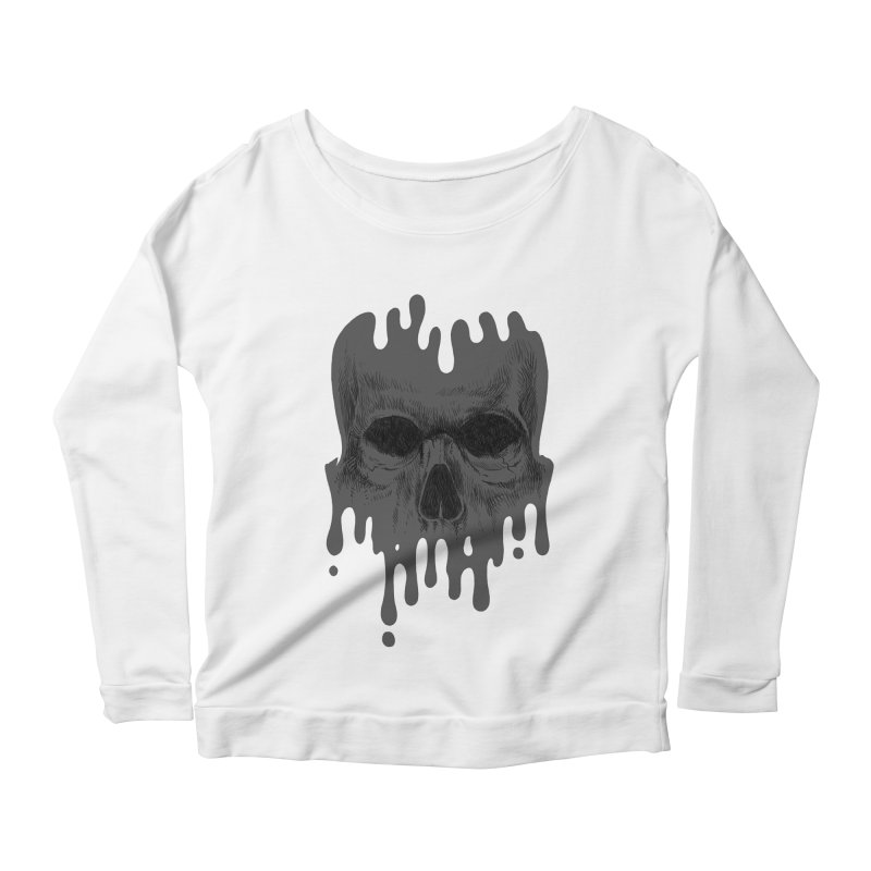 crazyskull No.4 Women's Longsleeve Scoopneck  by crazy3dman's Artist Shop