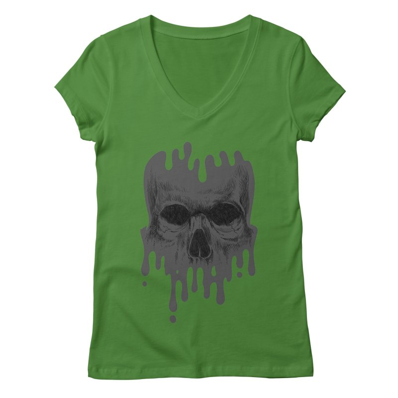 crazyskull No.4 Women's V-Neck by crazy3dman's Artist Shop