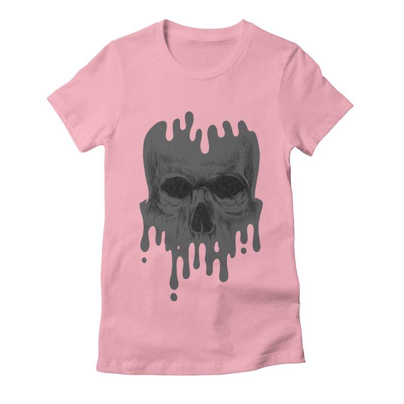 crazyskull No.4 Women's Fitted T-Shirt by crazy3dman's Artist Shop