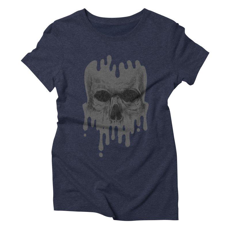 crazyskull No.4 Women's Triblend T-shirt by crazy3dman's Artist Shop