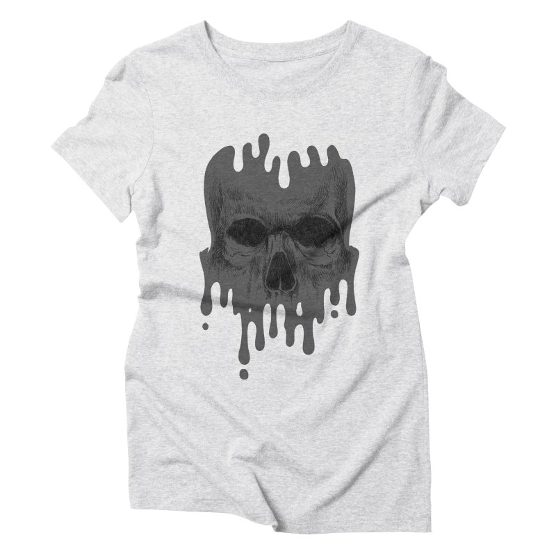 crazyskull No.4 Women's Triblend T-shirt by crazy3dman's Artist Shop