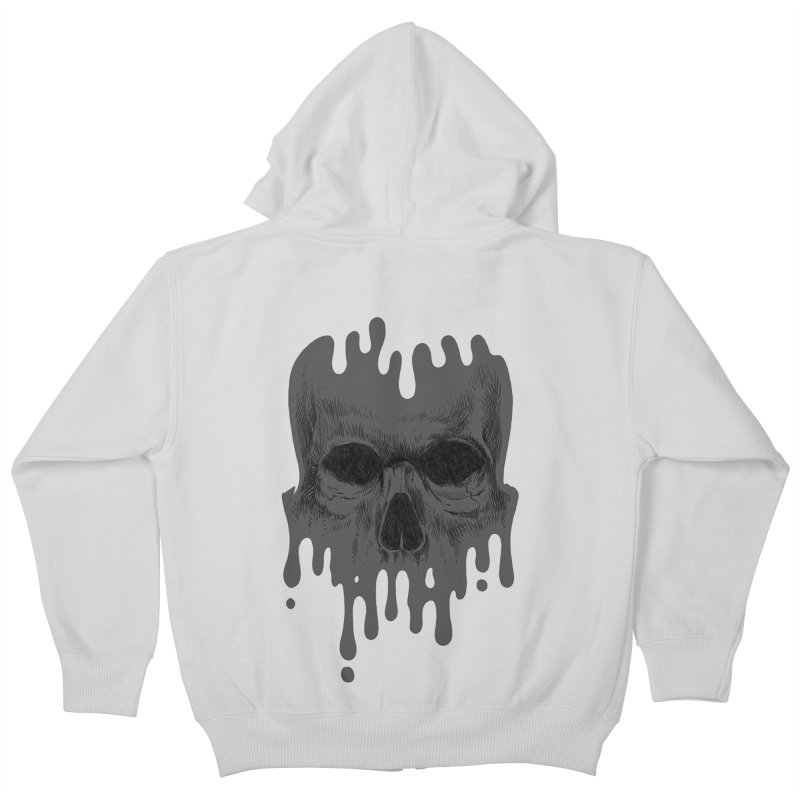 crazyskull No.4 Kids Zip-Up Hoody by crazy3dman's Artist Shop