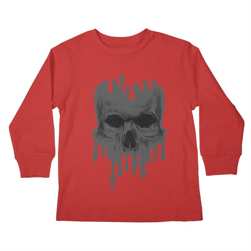 crazyskull No.4 Kids Longsleeve T-Shirt by crazy3dman's Artist Shop