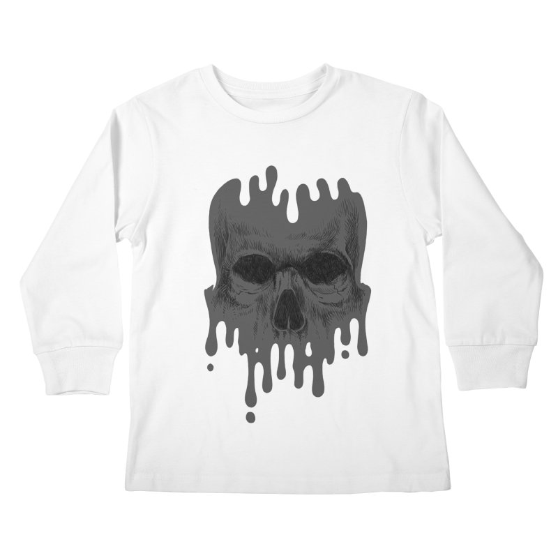 crazyskull No.4 Kids Longsleeve T-Shirt by crazy3dman's Artist Shop