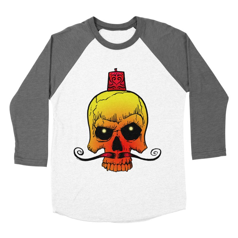 crazyskull No.5 Women's Baseball Triblend T-Shirt by crazy3dman's Artist Shop
