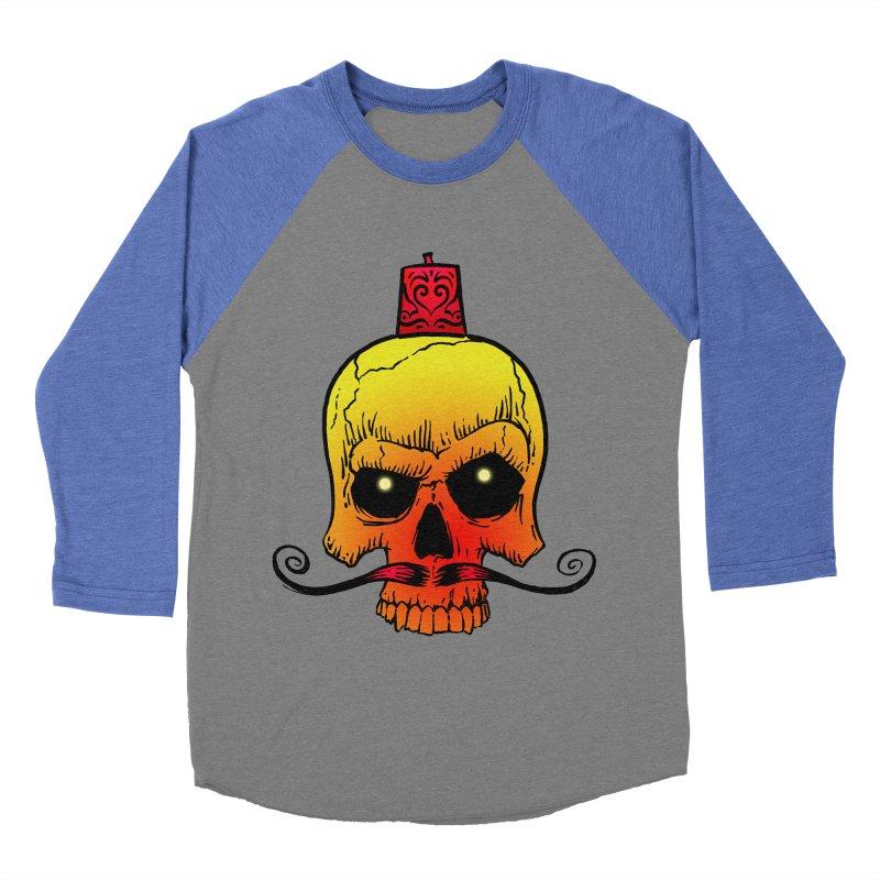 crazyskull No.5 Men's Baseball Triblend T-Shirt by crazy3dman's Artist Shop