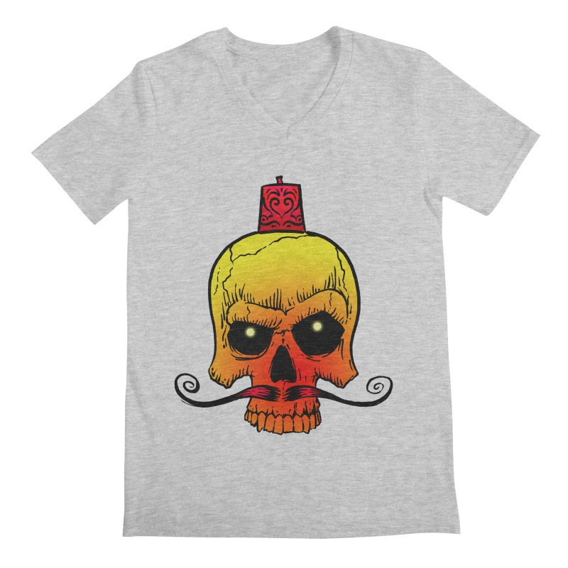 crazyskull No.5 Men's V-Neck by crazy3dman's Artist Shop