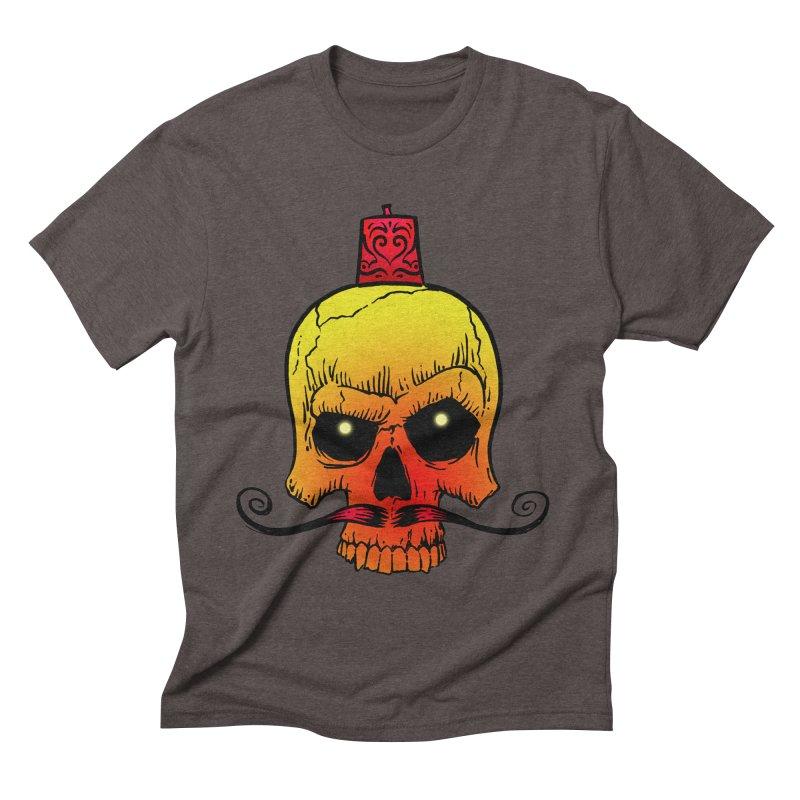 crazyskull No.5 Men's Triblend T-shirt by crazy3dman's Artist Shop