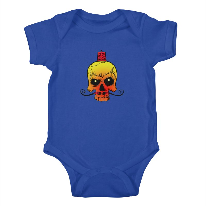 crazyskull No.5 Kids Baby Bodysuit by crazy3dman's Artist Shop