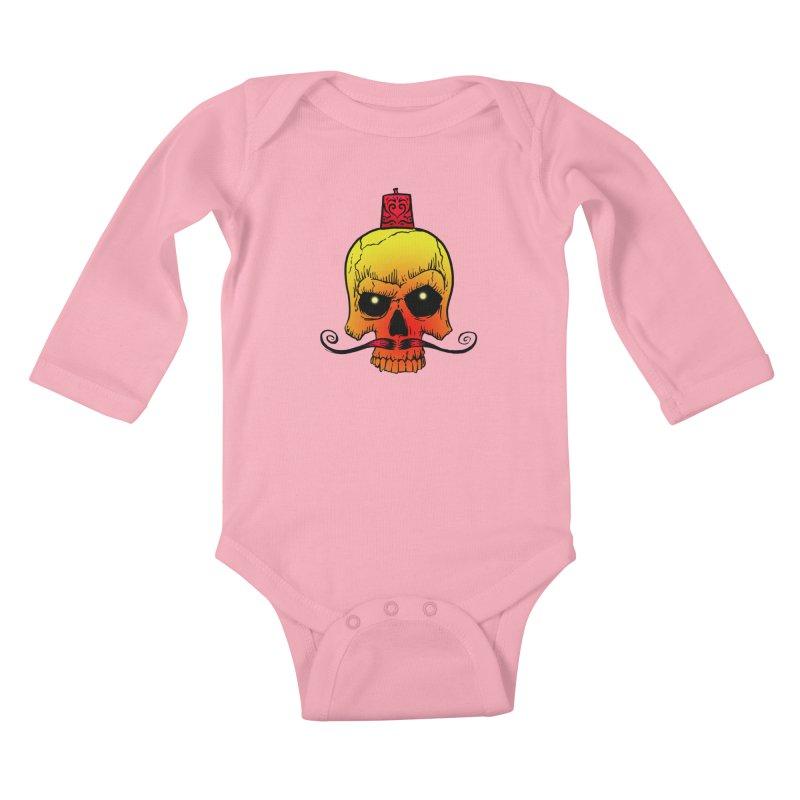 crazyskull No.5 Kids Baby Longsleeve Bodysuit by crazy3dman's Artist Shop