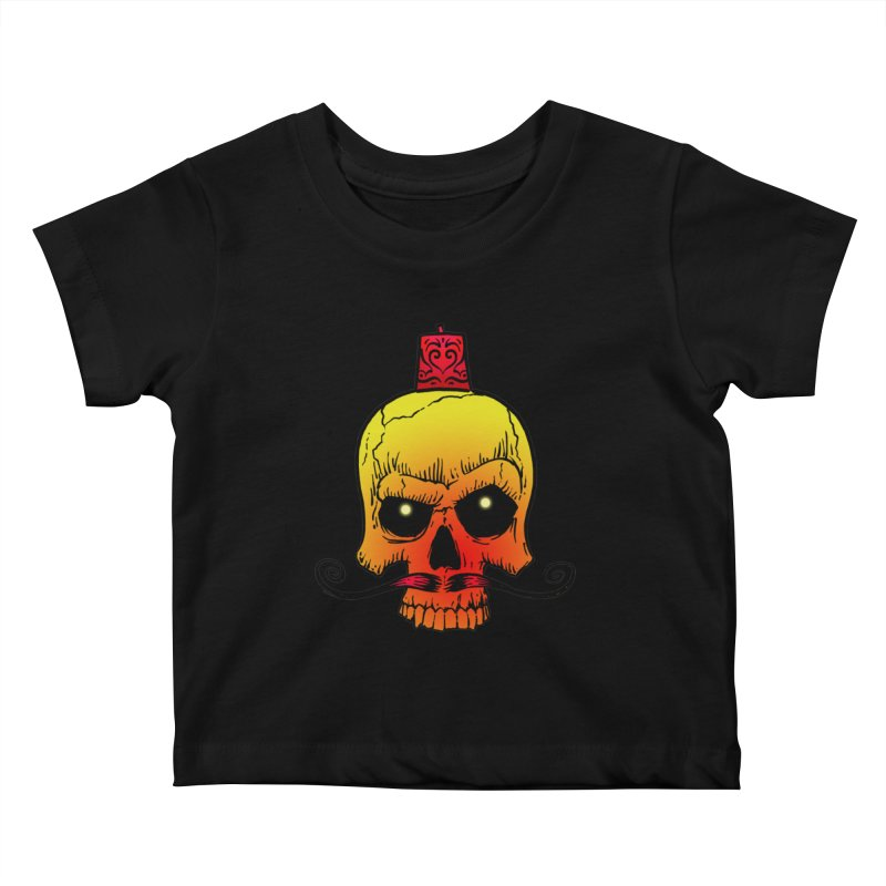 crazyskull No.5 Kids Baby T-Shirt by crazy3dman's Artist Shop