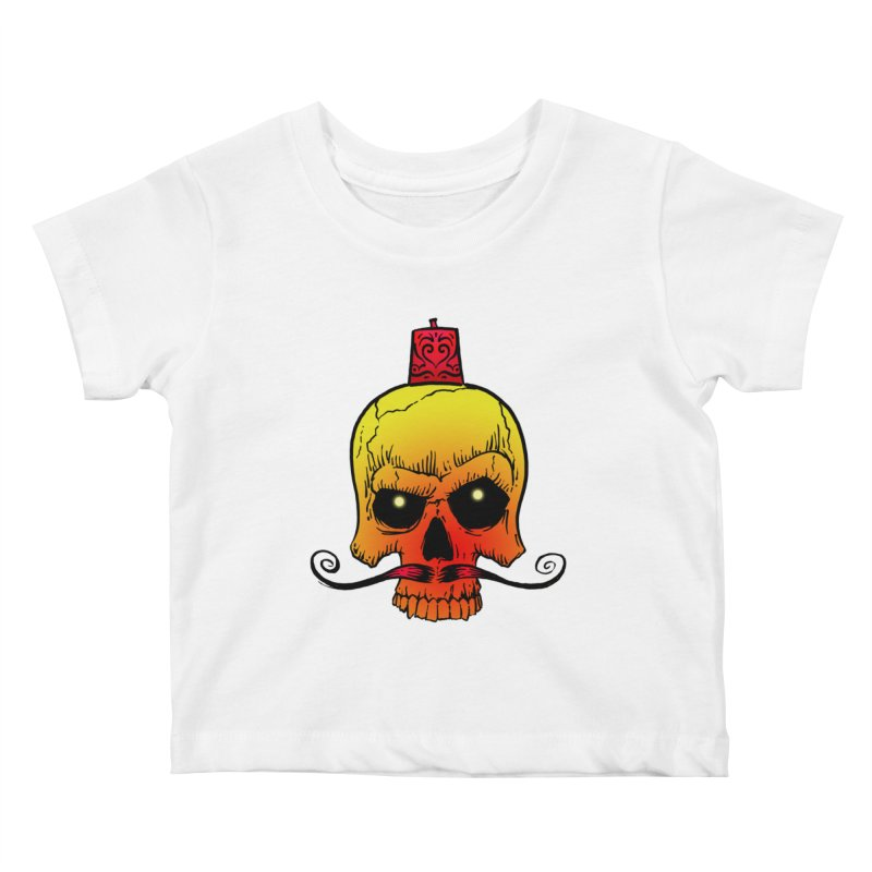crazyskull No.5 Kids Baby T-Shirt by crazy3dman's Artist Shop