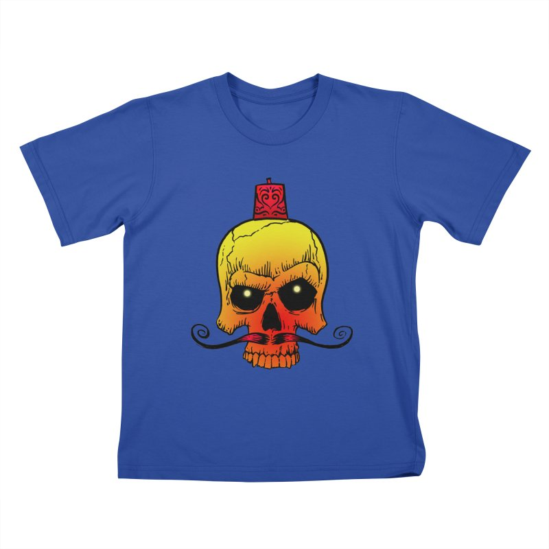 crazyskull No.5 Kids T-Shirt by crazy3dman's Artist Shop