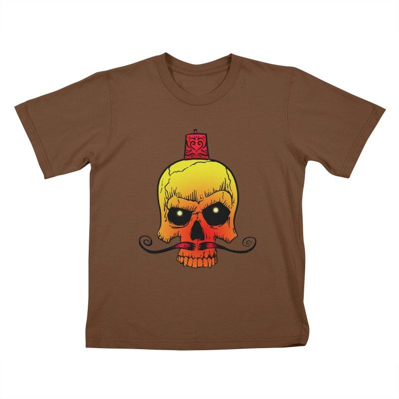 crazyskull No.5 Kids T-Shirt by crazy3dman's Artist Shop