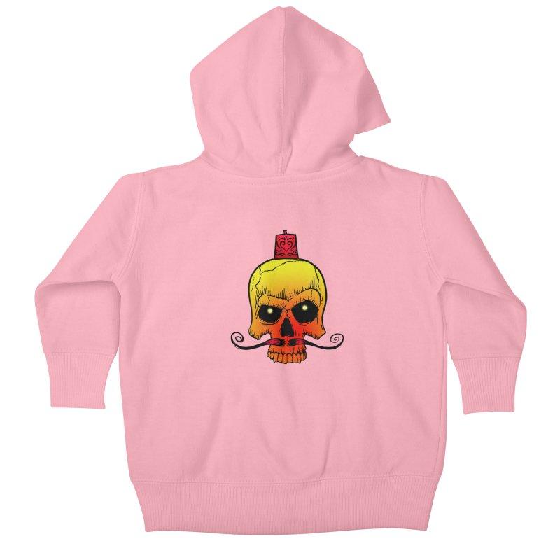 crazyskull No.5 Kids Baby Zip-Up Hoody by crazy3dman's Artist Shop