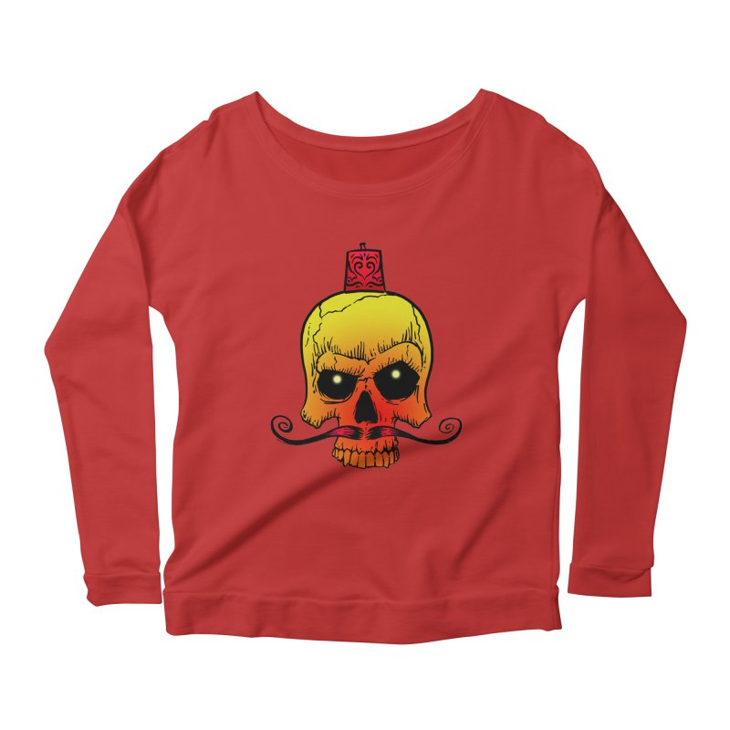 crazyskull No.5 Women's Longsleeve Scoopneck  by crazy3dman's Artist Shop